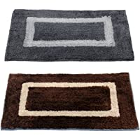 "Story@Home Handicraft Style Eco Series 2 Piece Cotton Blend Door Mat Set - 40 x 60 cm or 16""x24"", Multi"