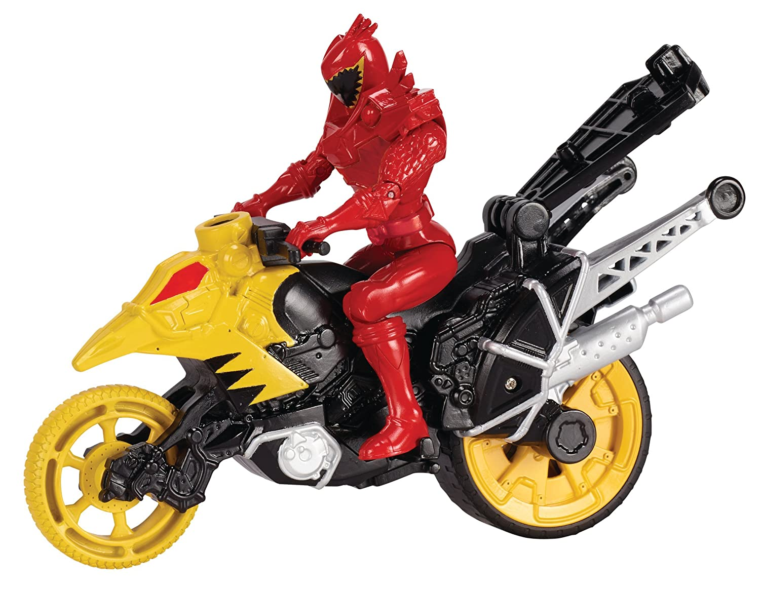 Power Rangers Dino Super Charge Dino Stunt Bike with 5 T-Rex Super Charge Red Ranger Action Figure Bandai America Incorporated 43077