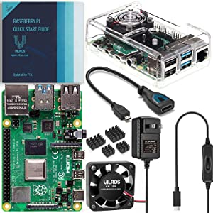 Vilros Raspberry Pi 4 Basic Kit with Fan Cooled Case (4GB)
