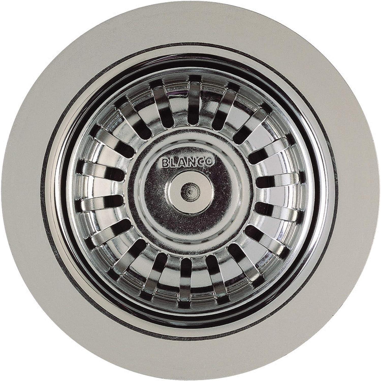 Blanco Polished Chrome 440007 Kitchen Drain Basket Strainer 3 5 Sink Strainers Amazon Com