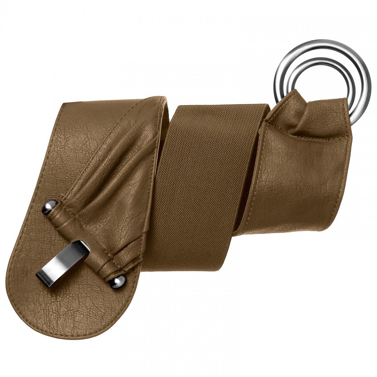 CASPAR GU246 elastischer breiter Damen Stretchg/ürtel//Tailleng/ürtel mit Gummizug