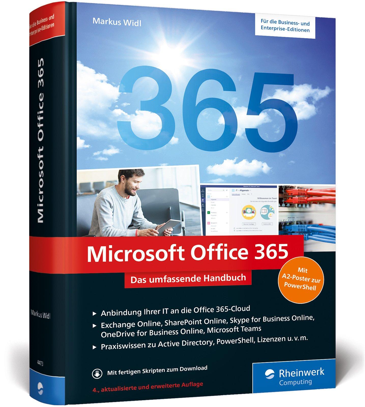 Microsoft Office 365: Das umfassende Handbuch für Administratoren. Aktuell zu Microsoft Office 365 (Enterprise und Business Edition) und Office 365 Deutschland Gebundenes Buch – 29. Mai 2017 Markus Widl Rheinwerk Computing 383624473X Anwendungs-Software