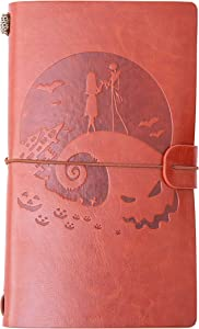 Leather Journal -The Nightmare before Christmas Notebook, This is Halloween Personalized gift – 1 Set