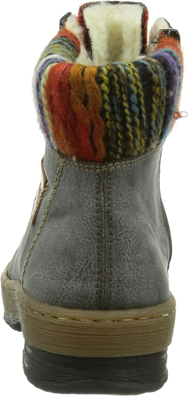Rieker Z6743 Damen Halbschaft Stiefel