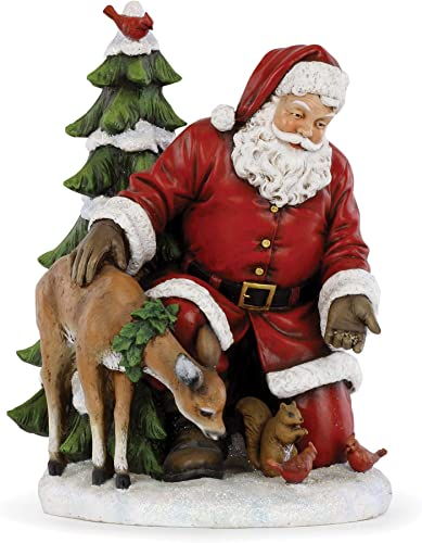 Napco 11.5 Santa Claus Feeding The Animals Christmas Table Top Figurine