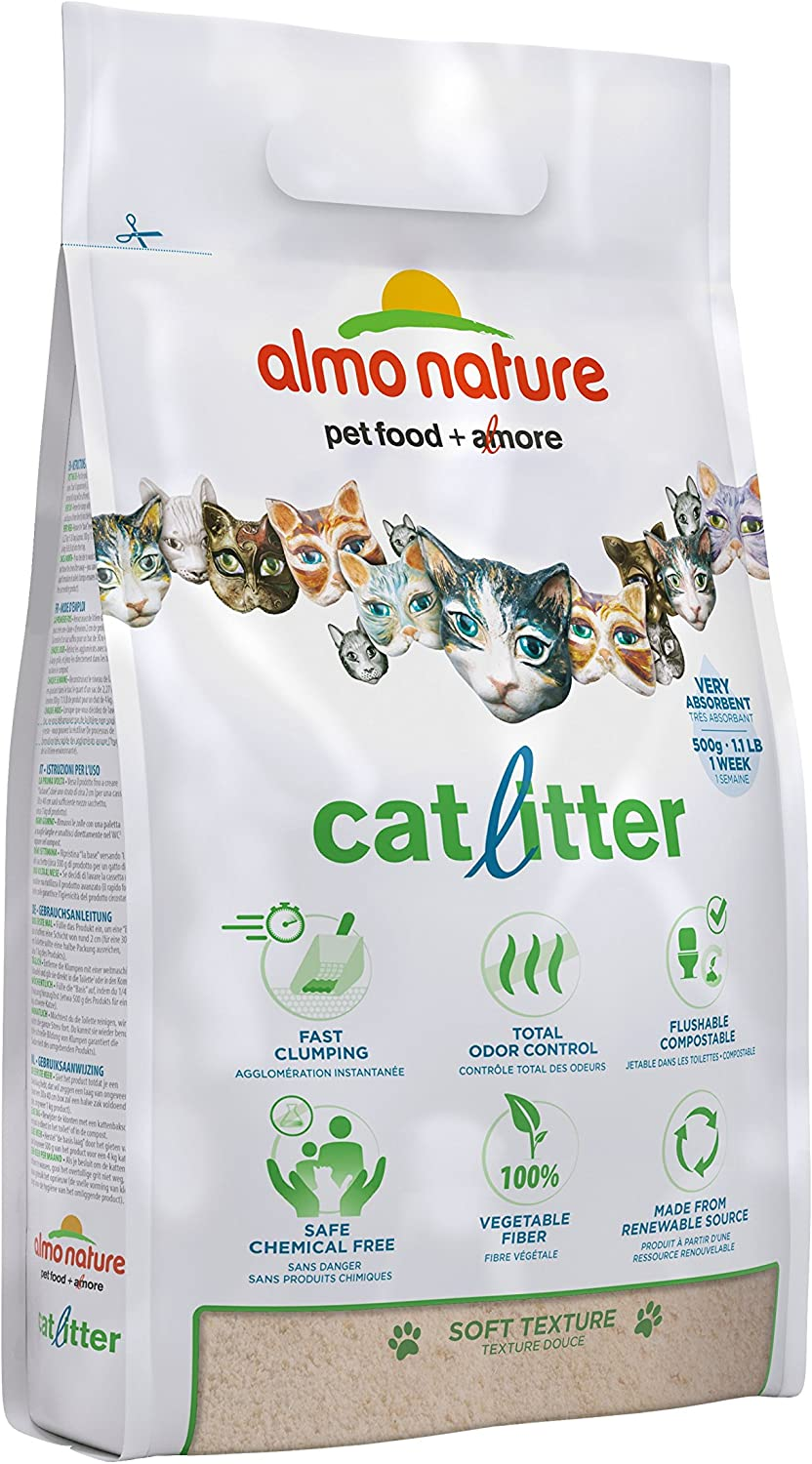 almo nature Natural Cat Litter 100% Plant-Based 10 Lb, 77