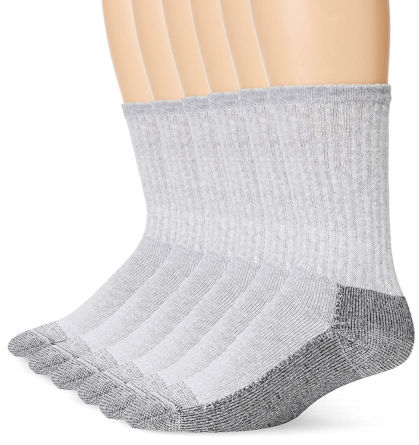 Fruit Of The Loom Mens 6 Pack Heavy Duty Reinforced Crew Socks at Amazon Mens Clothing store: