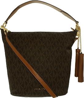 4aeffe47d688 Michael Kors Women's Jet Set Crossbody Leather Bag, Moss, Large ...