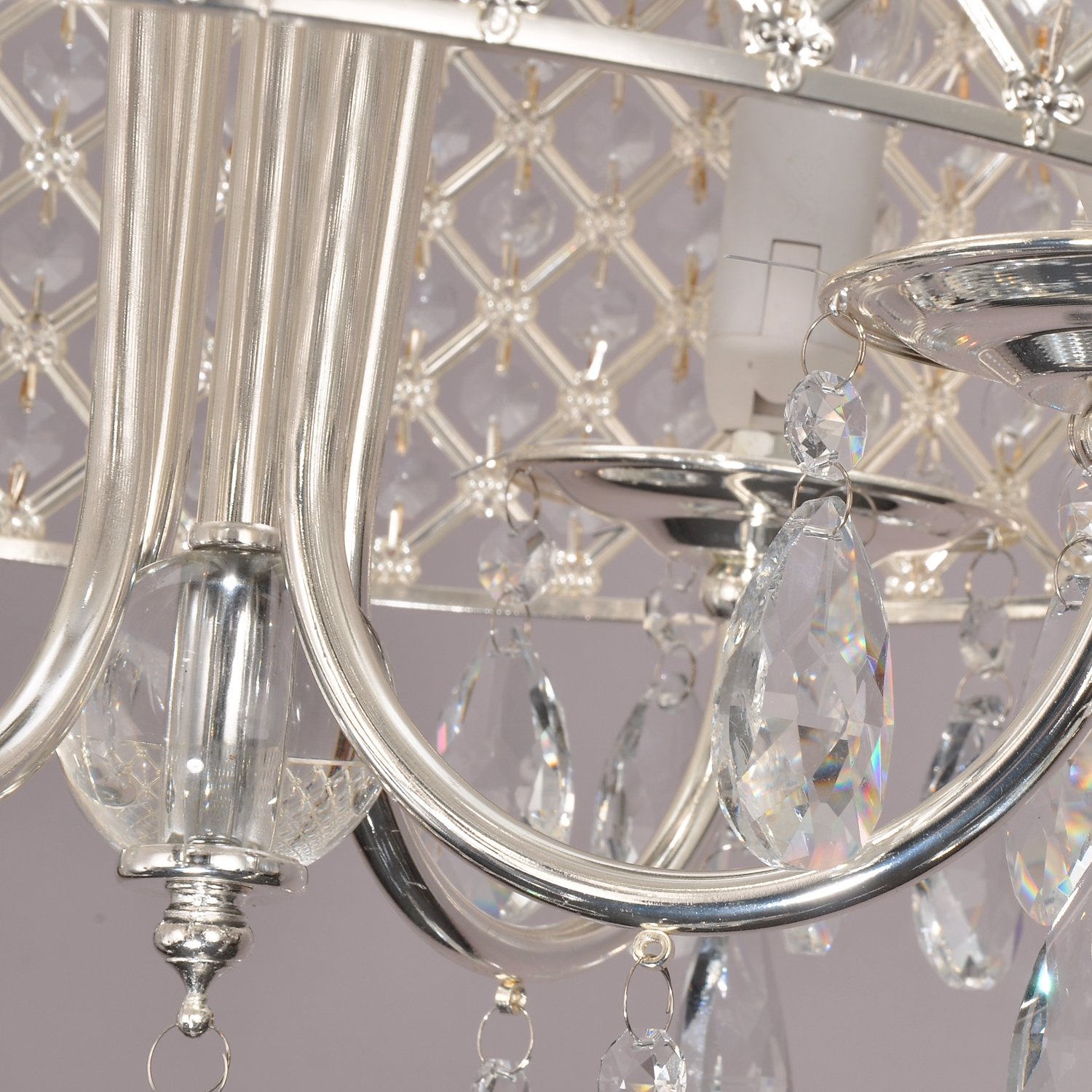Unitary™ Modern Crystal Drum Chandelier Max 240W With 4