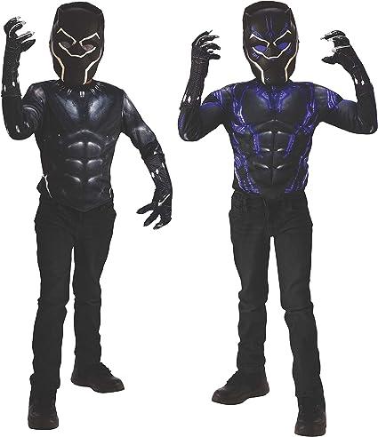 Black Panther Mens Adult Marvel Superhero Costume Top And Mask