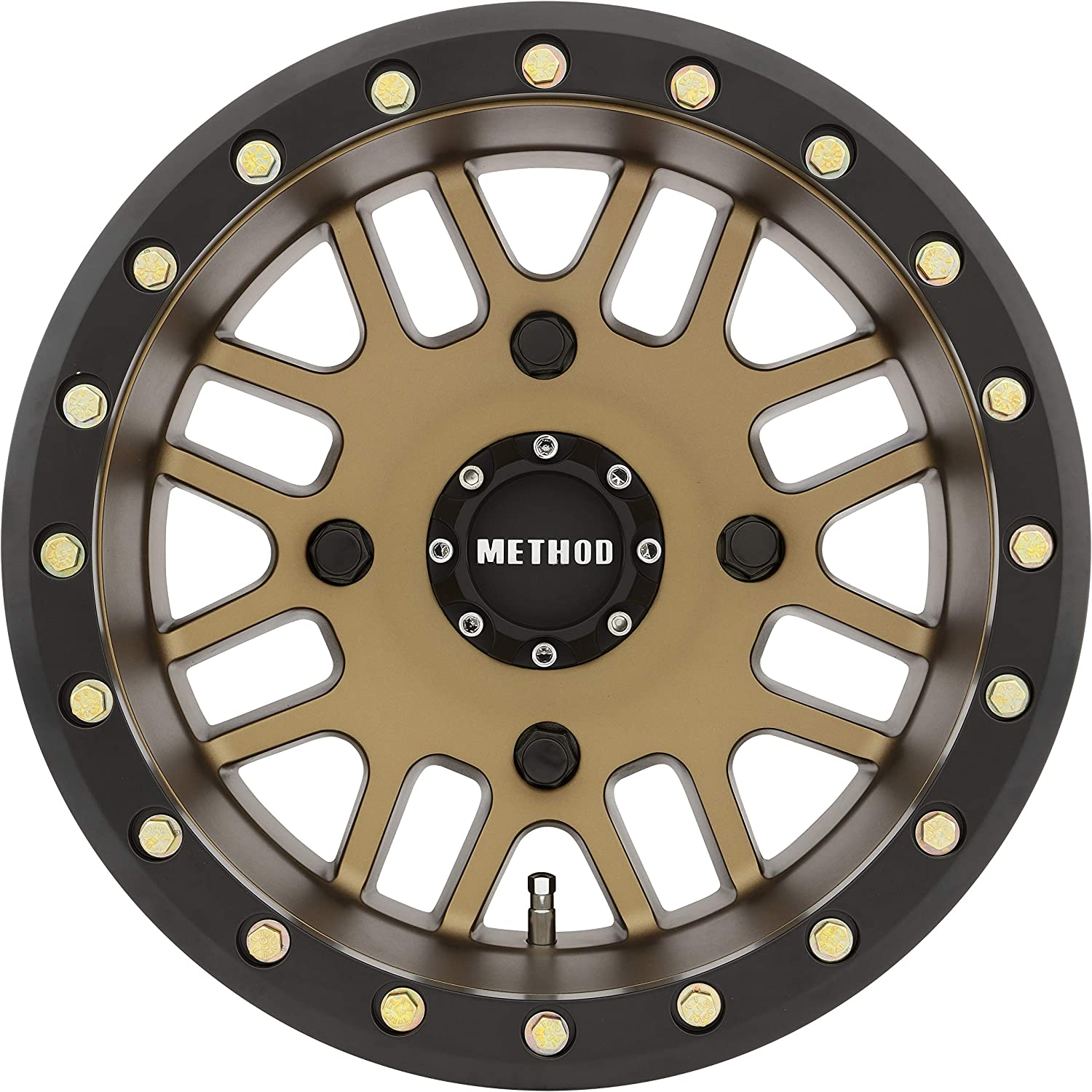 15 x 7. inches //4 x 136 mm, 13 mm Offset Method Race Wheels MR405 UTV Beadlock Method Bronze with Matte Black Ring Wheel with Painted