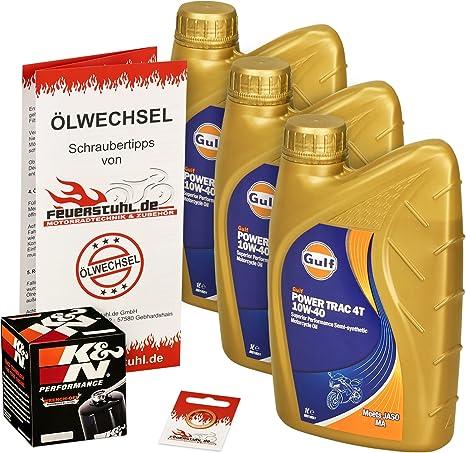 Gulf 10w 40 Öl K N Ölfilter Für Honda Xrv 750 Africa Twin 90 03 Rd04 Rd07 Ölwechselset Inkl Motoröl Filter Dichtring Auto