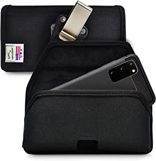 product image for Turtleback Belt Clip Case Designed for Galaxy S20 S21 (2020) Belt Holster Black Nylon Pouch with Heavy Duty Rotating Belt Clip, Horizontal Made in USA