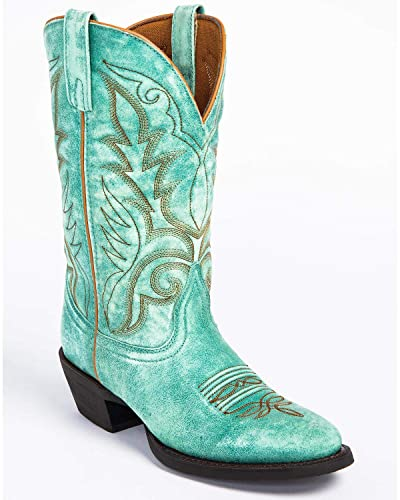 a428acc921b Laredo Women's Sofia Turquoise Leather Cowgirl Boot Round Toe - 51116