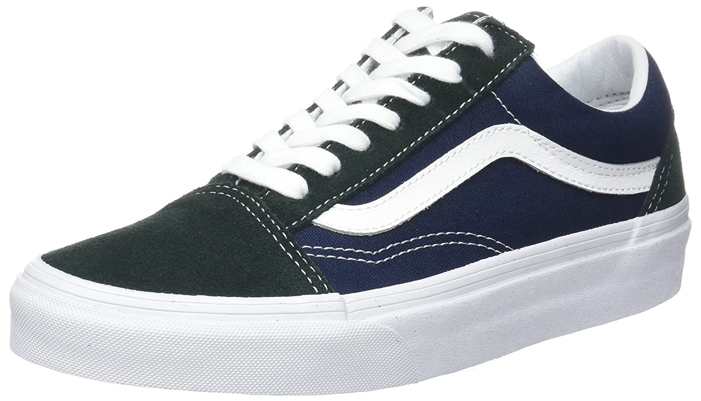 Vans Unisex Old Skool Classic Skate Shoes 10 D(M) US|Scarab/Dress Blues