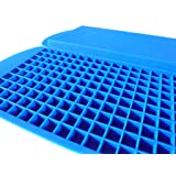 Silicone Ice Cube Trays - Flexible BPA Free Mold - Makes 160 Fast Freeze Mini Cubes - 2 Pack