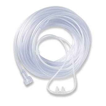How Do You Spell Oxygen >> Medline Supersoft Nasal Oxygen Cannula Universal Connector 7 Foot Tubing Adult Size Pack Of 50