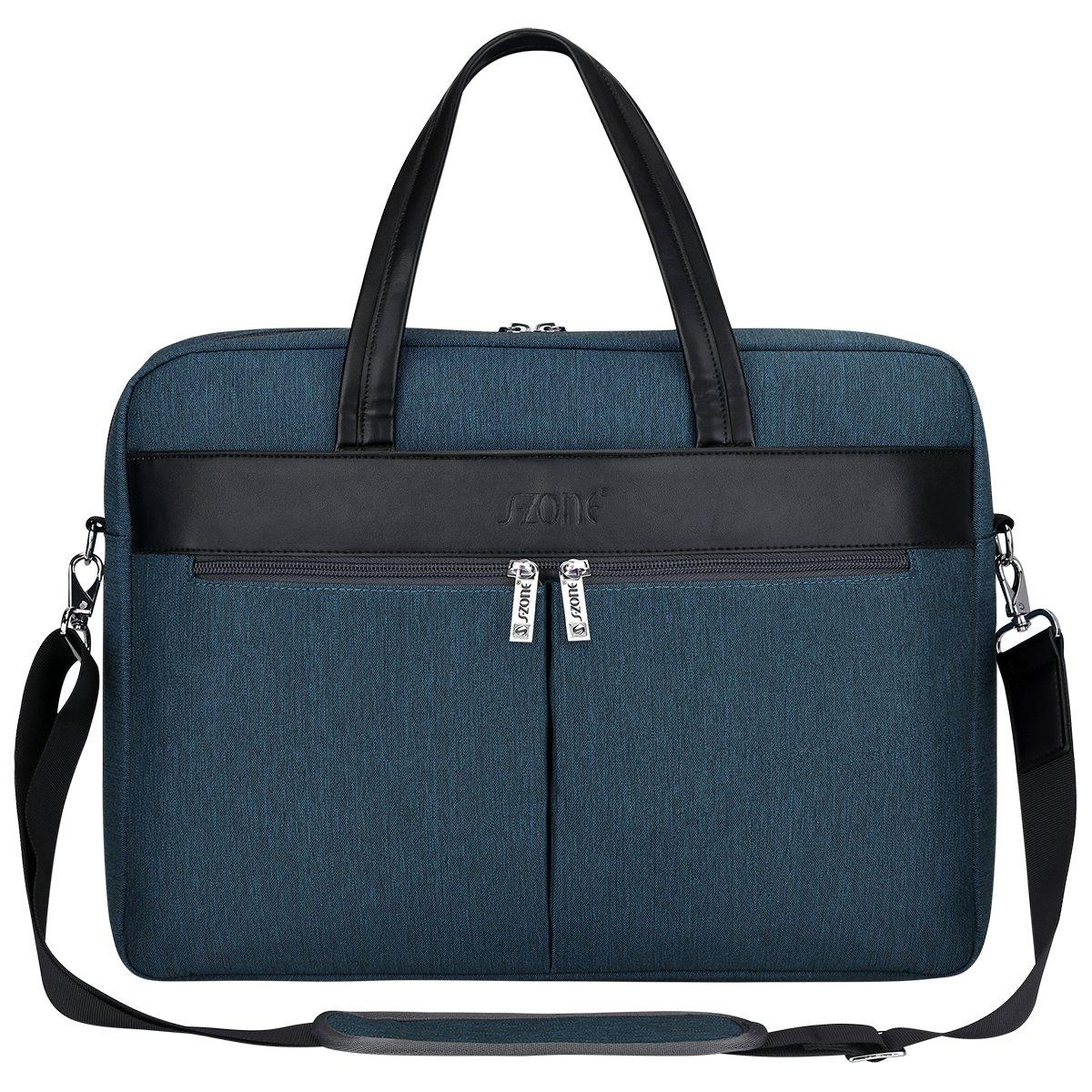 1122e79c4c Amazon.com  S-ZONE Laptop Tote Bag for Women 15.6 inch Large Business Work  Bag Shoulder Briefcase Handbag  Clothing