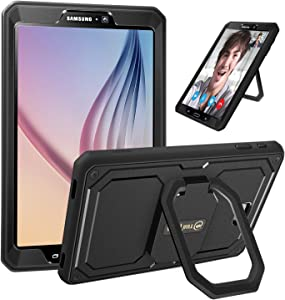 Fintie Case for Samsung Galaxy Tab A 10.1 (2016 NO S Pen Version), [Tuatara Magic Ring] 360 Rotating Multi-Functional Grip Stand Shockproof Cover Built-in Screen Protector, Black