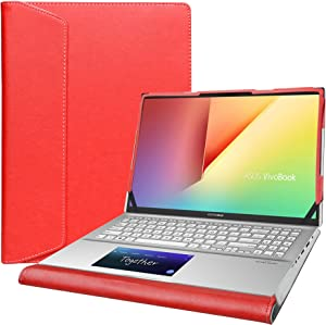 "Alapmk Protective Cover Case for 15.6"" Asus VivoBook S15 S532FA/VivoBook 15 F512DA F512FA X512FA/ASUS Q547FD Q537FD & Lenovo IdeaPad Slim 7 15IIL05 & HP Envy x360 15 15m-eeXXXX Laptop,Red"