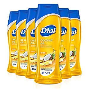 Dial Body Wash, Coconut Oil, 21 Fluid Ounces (Pack of 6)