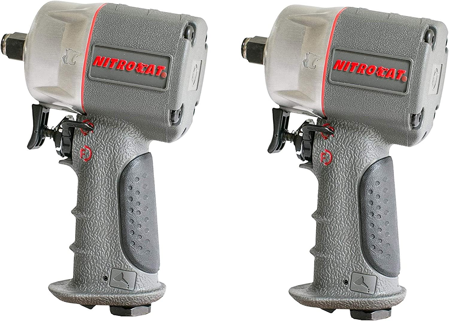 AIRCAT 1056-XL Kevlar Composite Compact Impact Wrench, 1 2 , Silver Grey 2 Pack