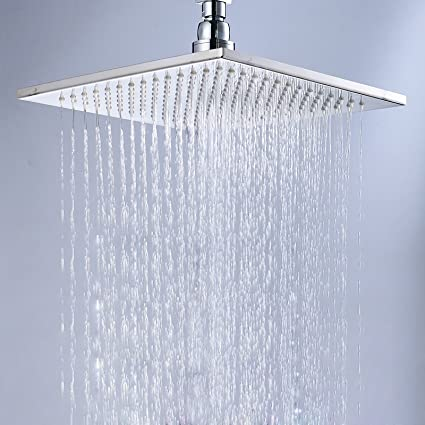 Charmant Senlesen Bathroom Rainfall 12 Inch Square Rain Shower Heads Replacement Top  Spray Chrome Finished