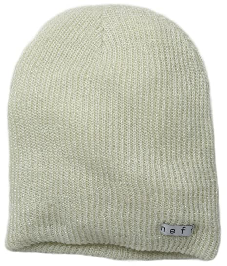db896af5ae10 Amazon.com: NEFF Women's Daily Sparkle Beanie, Creme, One Size: Clothing