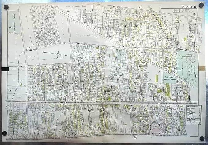 1909 Hartford CT Map: Hartford Retreat; Old South Burying Ground ++ ...