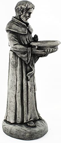 Saint Francis Concrete Garden Statue Religious Outdoor Catholic Figure Cement Sculpture Bird Feeder Garden Statue