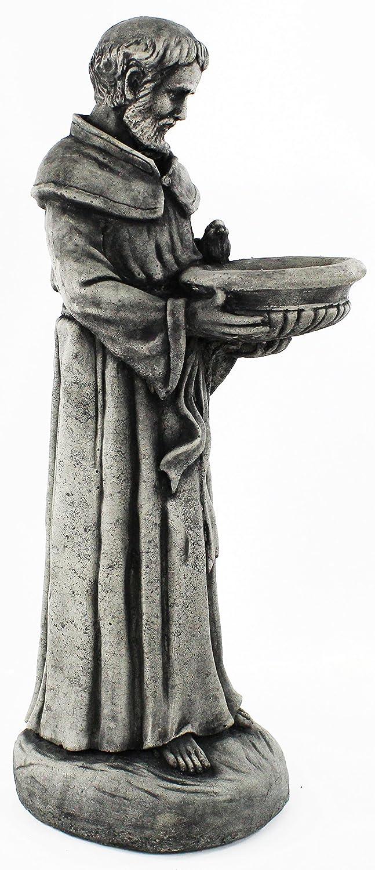 Saint Francis Concrete Garden Statue Religious Outdoor Catholic Figure Cement Sculpture Bird Feeder Garden Statue