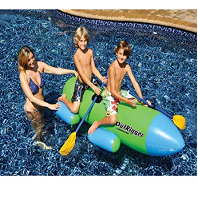 Swimline Outrigger Inflatable with Paddles: Toys & Games