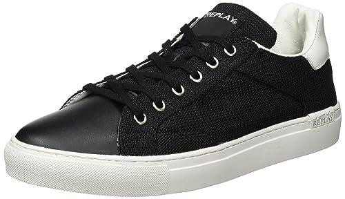 Bemd, Zapatillas para Hombre, Negro (Black White 8), 41 EU Replay