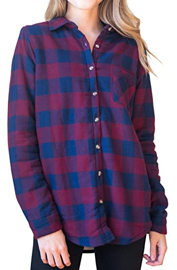 women\u0027s roll up sleeve plaid check flannel shirt at amazon women\u0027swomen\u0027s roll up sleeve plaid check flannel shirt (small, navy_1898)