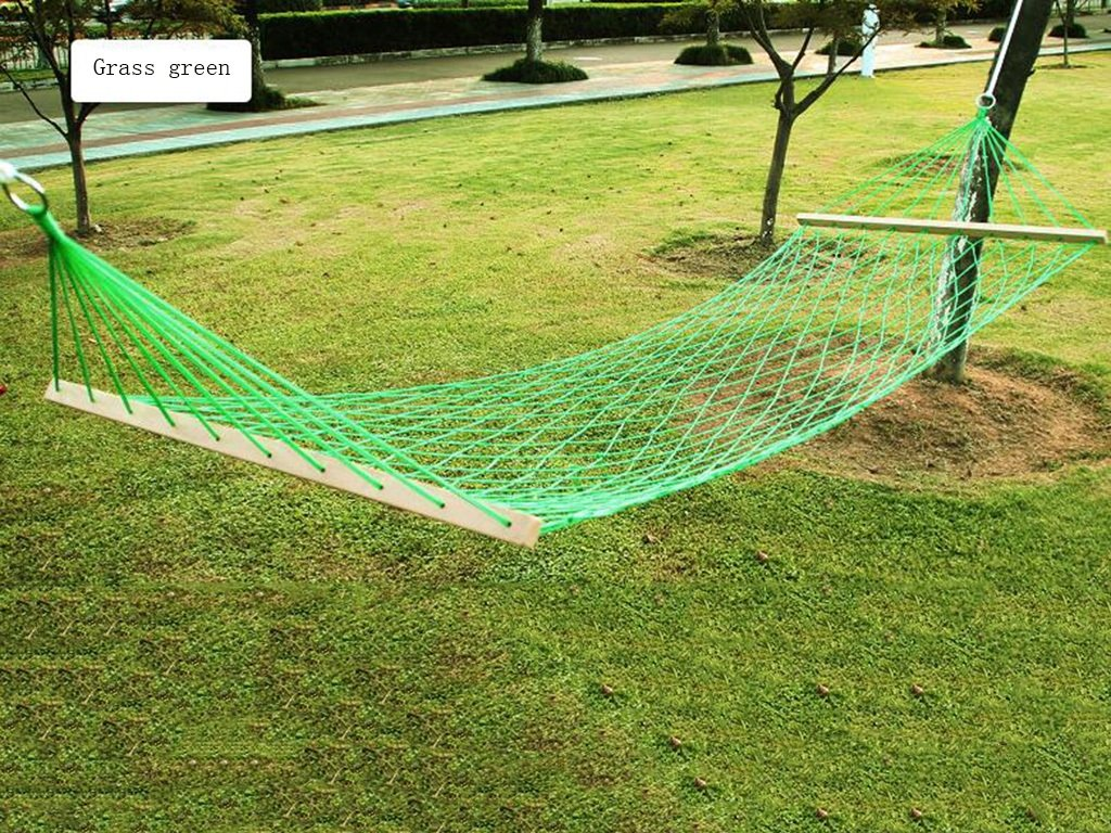 Hängematte Outdoor Freizeit Freien Einzelne Gitter Reisig Fett Nylon-Seil Camping Innen- Swing Freizeit Ultralight Bequeme