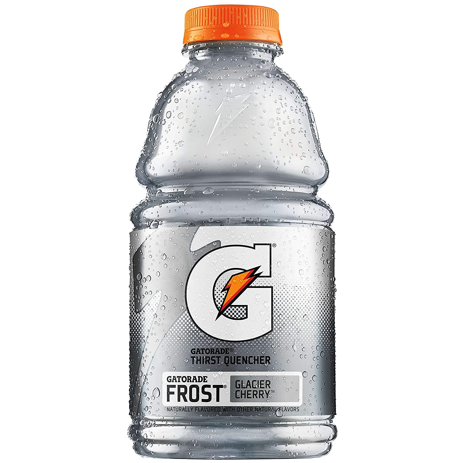 Gatorade Frost Glacier Cherry, White, Thirst Quencher Sports Drink, 32oz Bottle (Pack of 8, Total of 256 Oz)