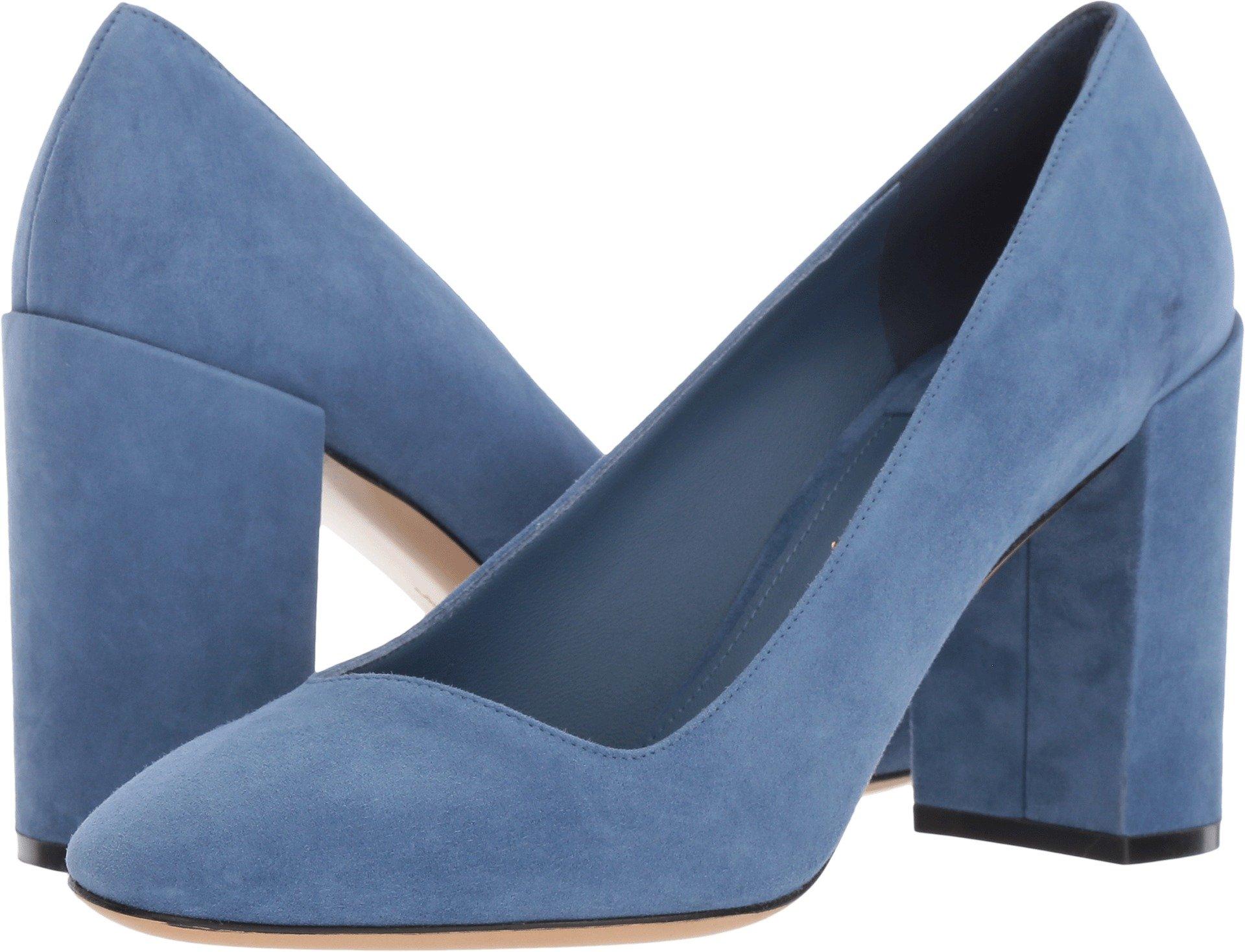 Salvatore Ferragamo Women's Arezzo 85 Blue Stone Suede Kid RO 7 B US