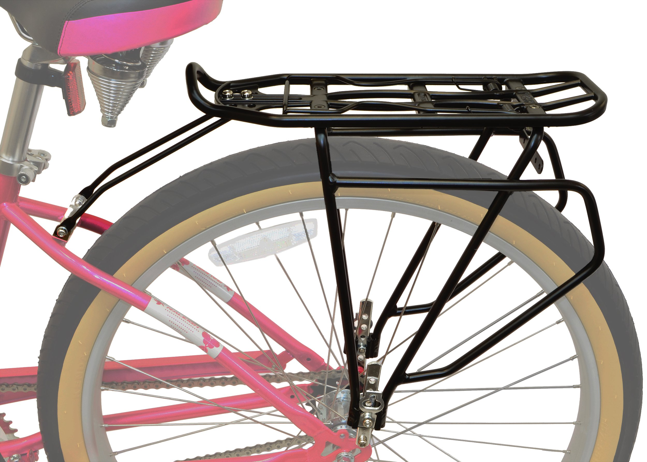 Lumintrail Bicycle Rear Frame Mounted Cargo Rack for Non-Disc Bikes Height Adjustable Commuter Carrier