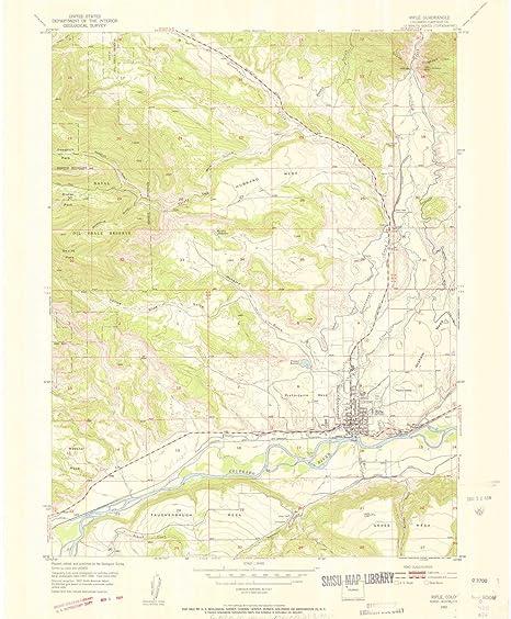 Amazon Com Yellowmaps Rifle Co Topo Map 1 24000 Scale 7 5 X 7 5