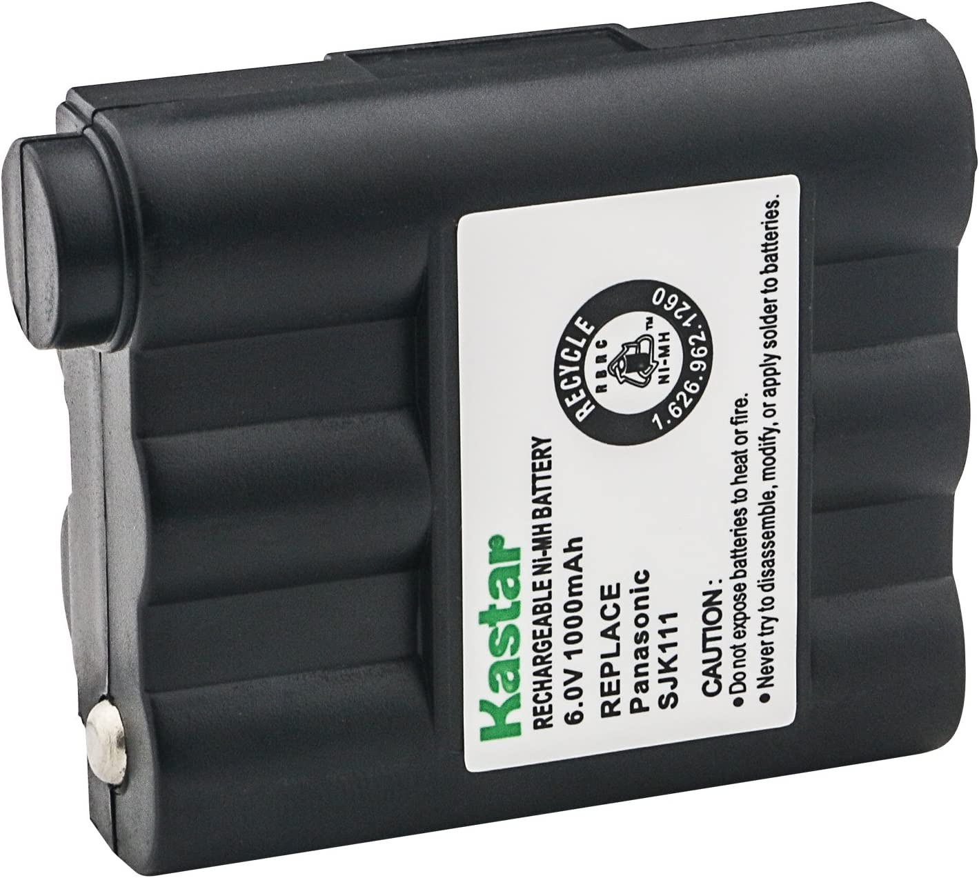 800mAh, 6V, NIMH 2 Pack Replacement Battery for Midland Nautico NT1VP Replacement Battery for Midland Two-Way Radio