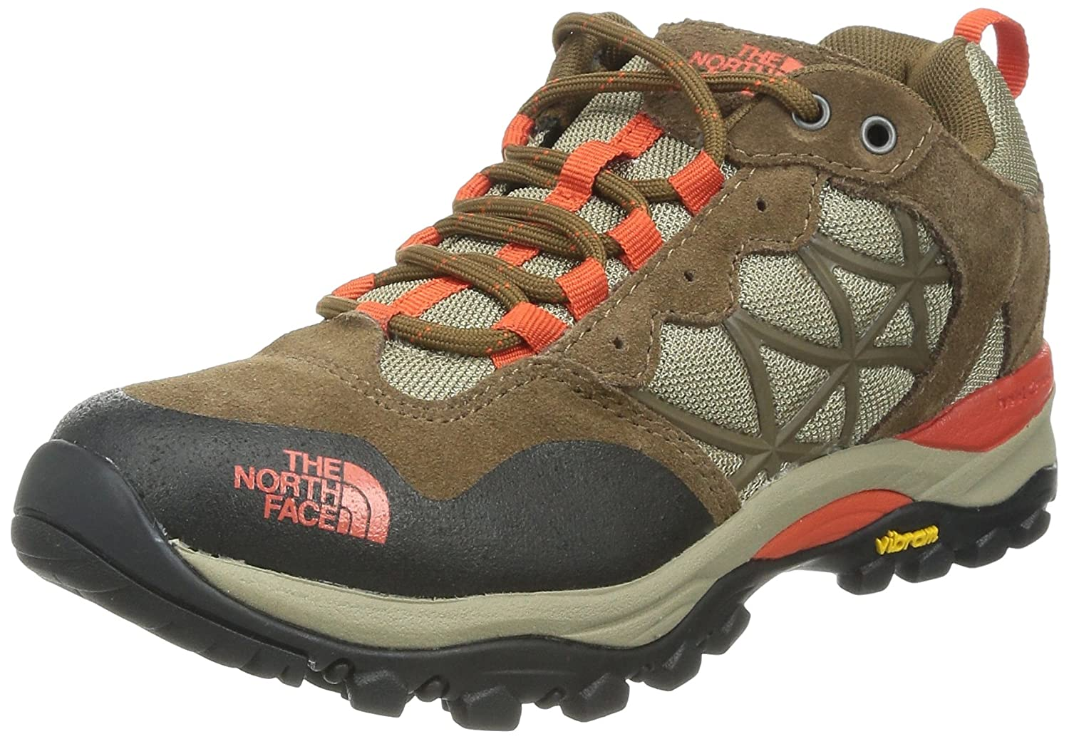 The North Face Women's Storm Low Top Fabric Hiking Shoe B00E5LUIDY 7 B(M) US|Sepia Brown/Spicy Orange