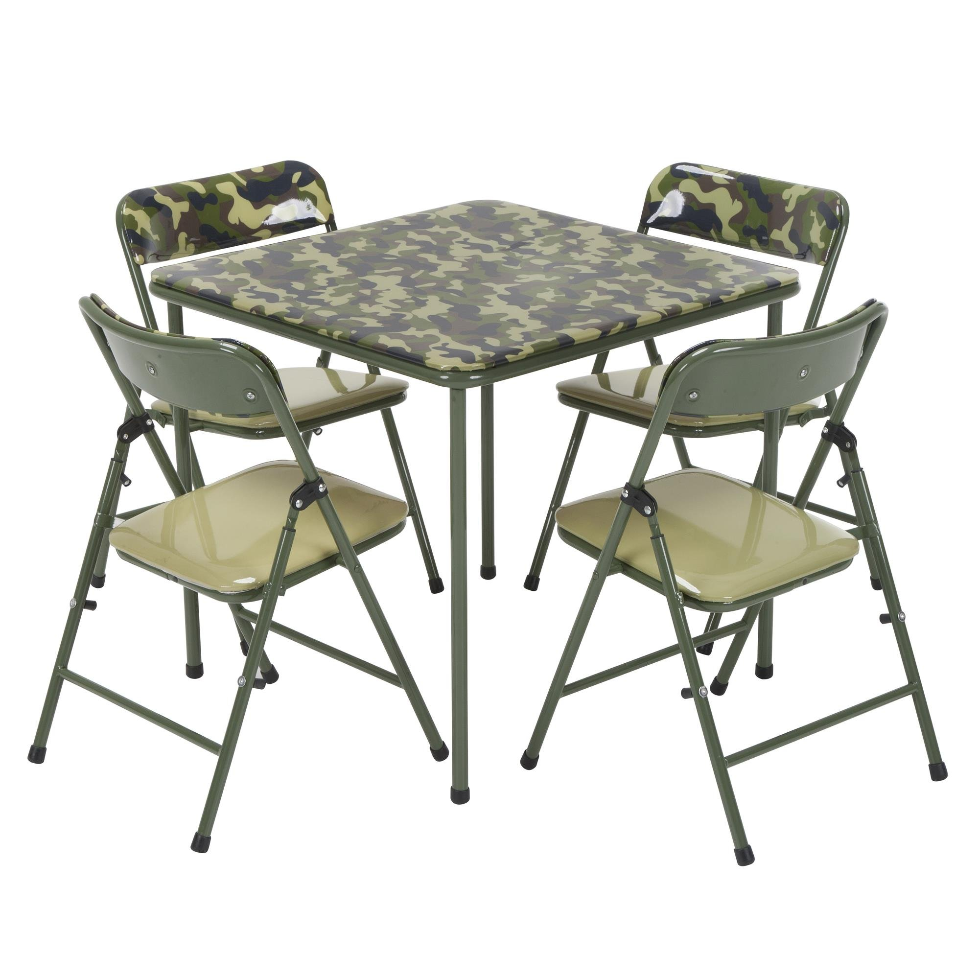 COSCO Kids Pinch-Free 5pc Vinyl Set, Camo with Green Frame