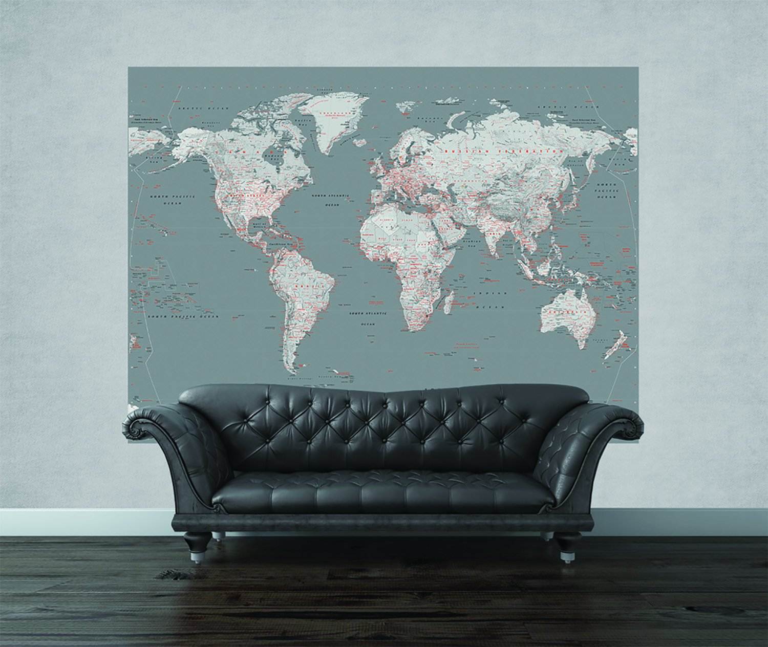 1 wall world map feature wallpaper mural wood silver 1 58 x 2 32 m amazon co uk kitchen home