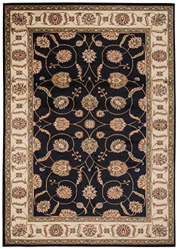 Nourison Paramount Black Rectangle Area Rug, 7-Feet 10-Inches by 10-Feet 6-Inches 7 10 x 10 6