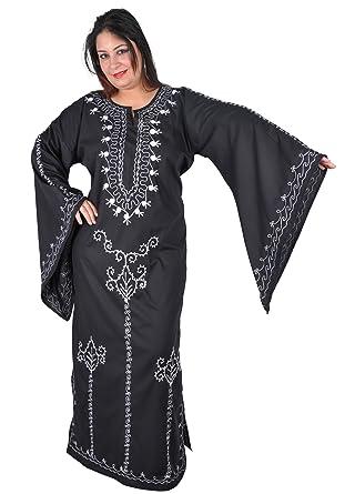c73cc049873676 Egypt Bazar Romantischer Kaftan Kleid im 70er-Jahre-Look