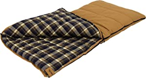 ALPS OutdoorZ Redwood -25 Degree Flannel Sleeping Bag, Tan, 38 - x 80 -Inch