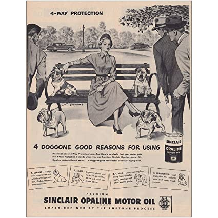 Image Unavailable. Image not available for. Color: RelicPaper 1949 Sinclair Opaline Motor Oil: ...