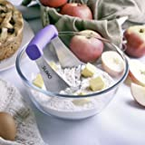 Pastry Cutter & Dough Blender: from SUMO • Perfect Pie Crust • Solid Blades Cuts Butter into Flour • Well Made & Sturdy, Comfortable Non-slip Grip • Easy to Clean & Dishwasher Safe • Purple