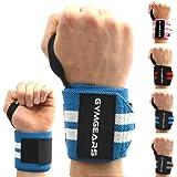 Handgelenkbandage [2er Set] Wrist Wraps 45 cm - Profi Bandagen für Kraftsport, Bodybuilding, Powerlifting, CrossFit & Fitness - Für Frauen & Männer geeignet - 2 Jahre Garantie