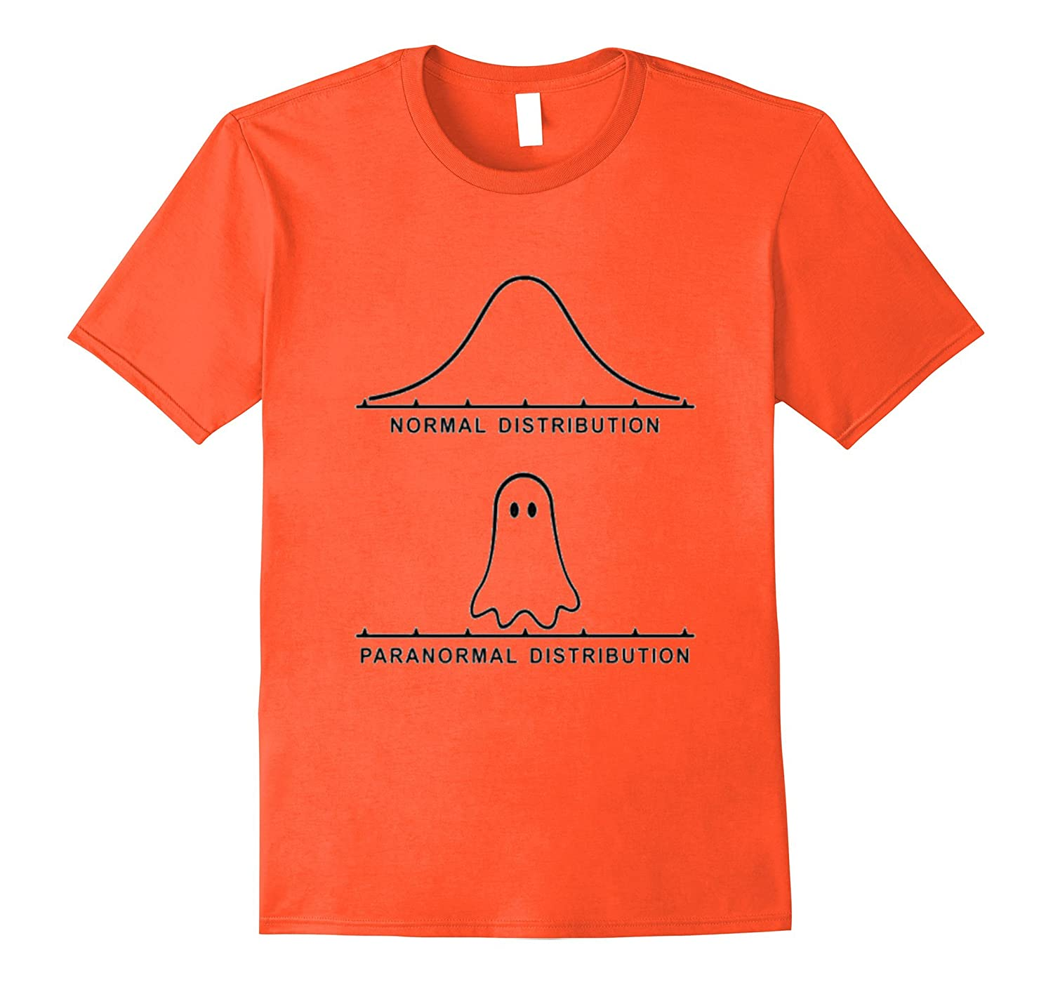 Funny Paranormal Distribution Graph Stats Spooky Ghost Tee-T-Shirt